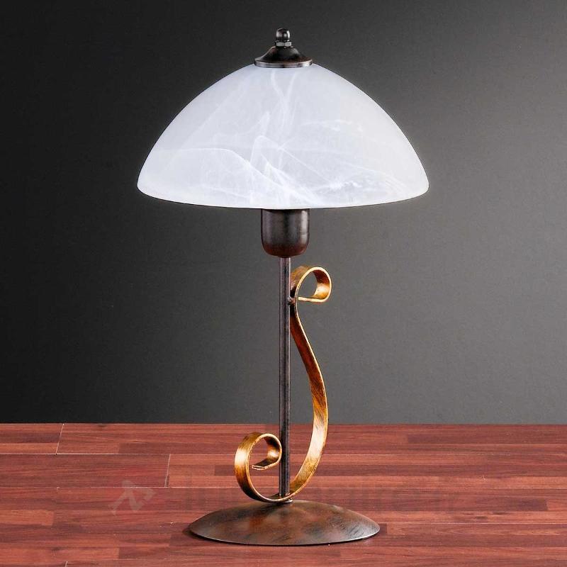 Lampe à poser LISA avec pied décoratif - Lampes de chevet