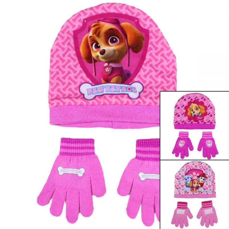 3x Bonnets et gants Paw Patrol - Bonnet Gant Echarpe