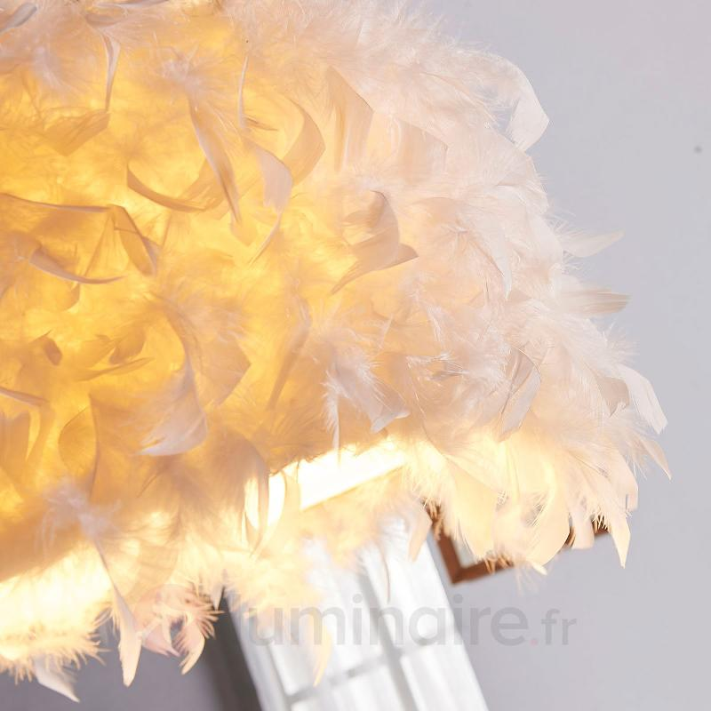 Sympathique suspension Pauline avec des plumes - Suspensions en tissu