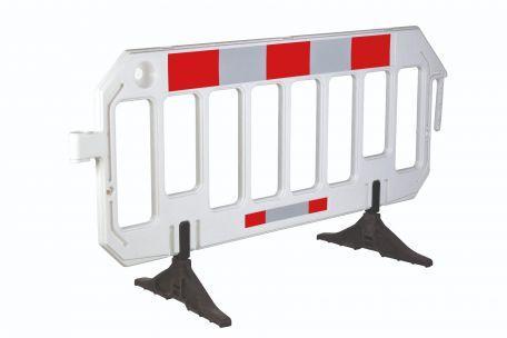 Barrière Mobile, Blanche - Barrières De Sécurité