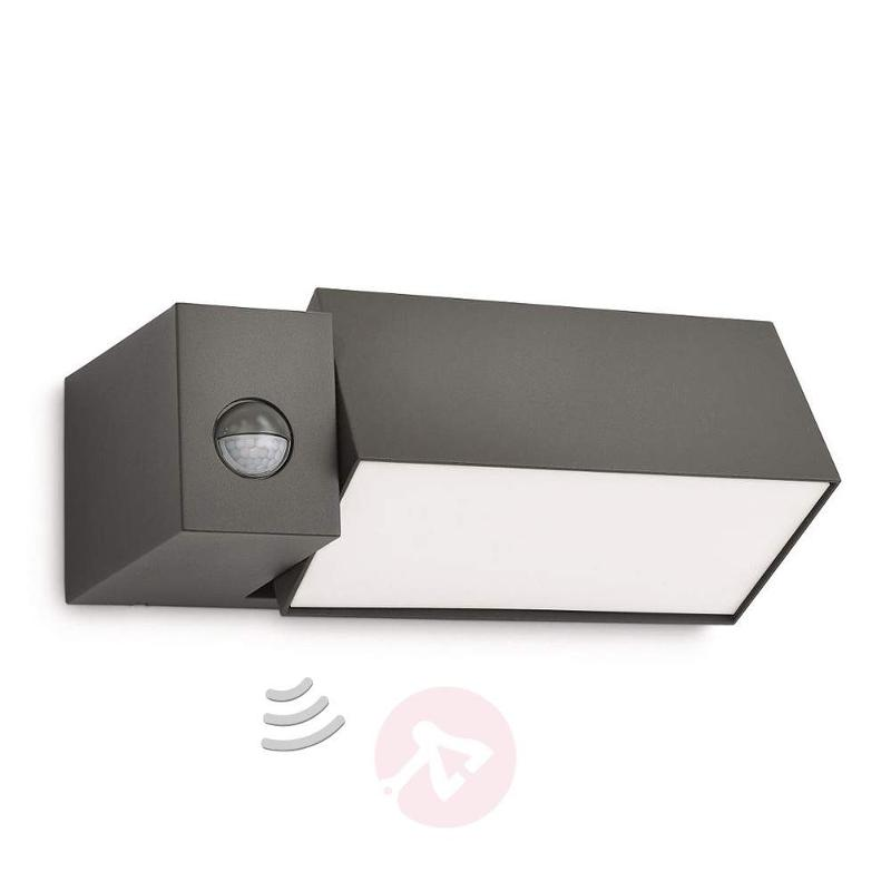 Border anthracite outside wall light motion sensor - Wall Lights with Motion Sensor