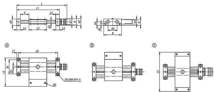 Table croisée longue - Système de positionnement