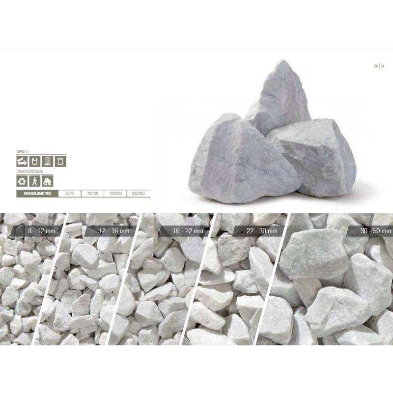 Big bag de gravier décoratif - Gravier de Marbre, blanc de carrare, en big bag