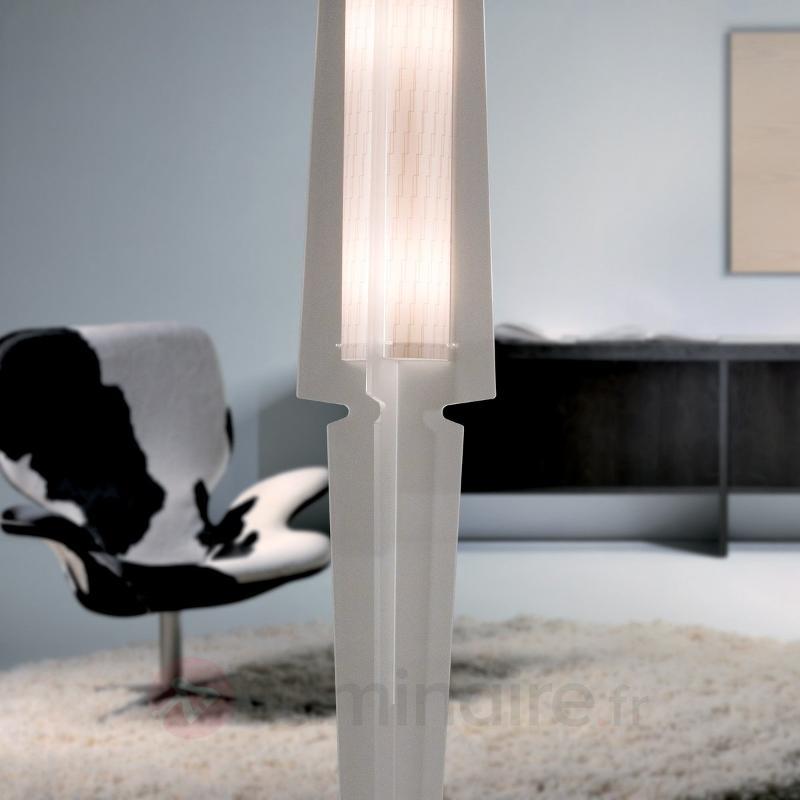 Lampadaire Dea blanc satiné - Lampadaires design