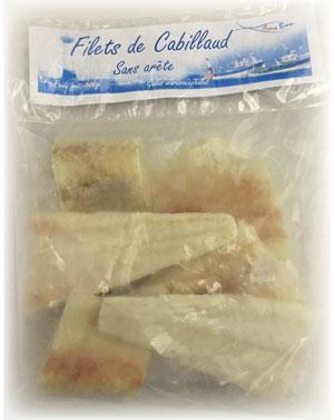 Filets de Cabillaud sauvage - Congelés et surgelés