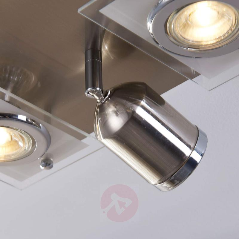 6-Bulb ceiling lamp Fjolla with GU10 LEDs - indoor-lighting