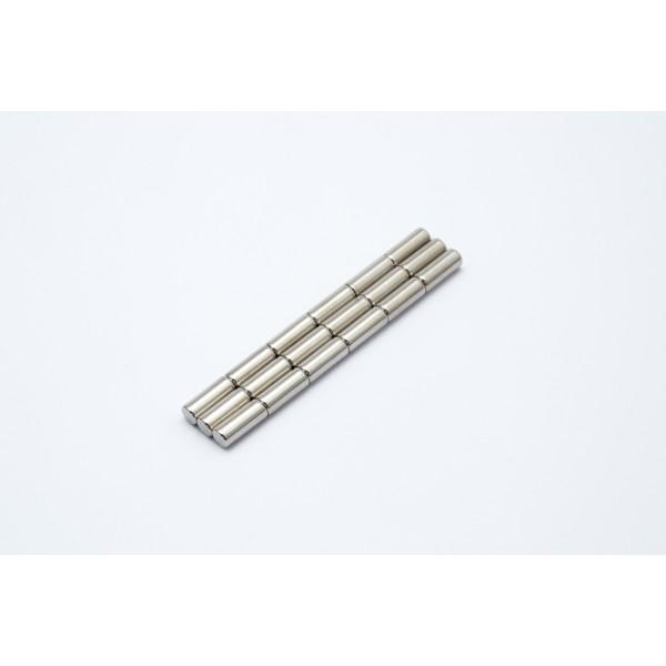 Neodymium disc magnet 4x10mm, N45, Ni-Cu-Ni, Nickel coated - Disc