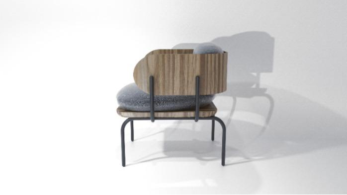 chair design - armchair Line1 from collection Graphica