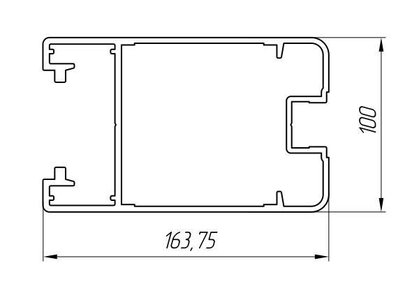 Aluminum Profile For Doors Ат-3025 - Interior aluminum profile
