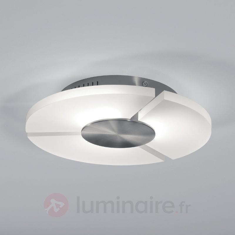 Plafonnier LED futuriste Rika nickel - Plafonniers LED