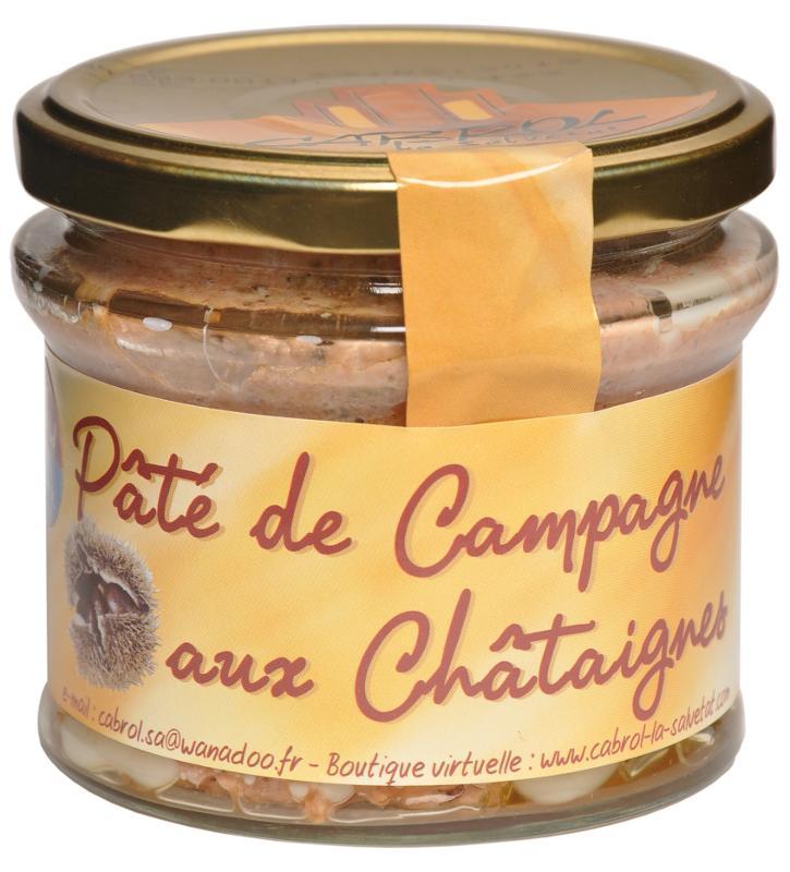 Pâté de Campagne aux Châtaignes (Bocal en verre) - Epicerie salée