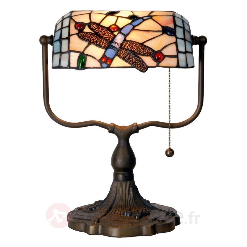 Lampe de banquier Dragonfly style Tiffany - Lampes à poser style Tiffany
