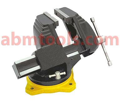 Off Centre Bench Vise - It can be swiveled 360Degree and has locking arrangements to keep it fixed