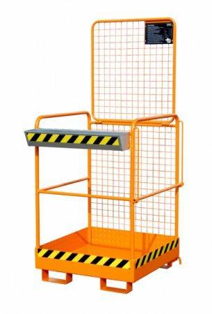 Sicherheitskorb Typ SIKO-M, Anbaugerät für Gabelstapler - Arbeitsbühne mit Einfahrtaschen für das sichere Arbeiten in der Höhe
