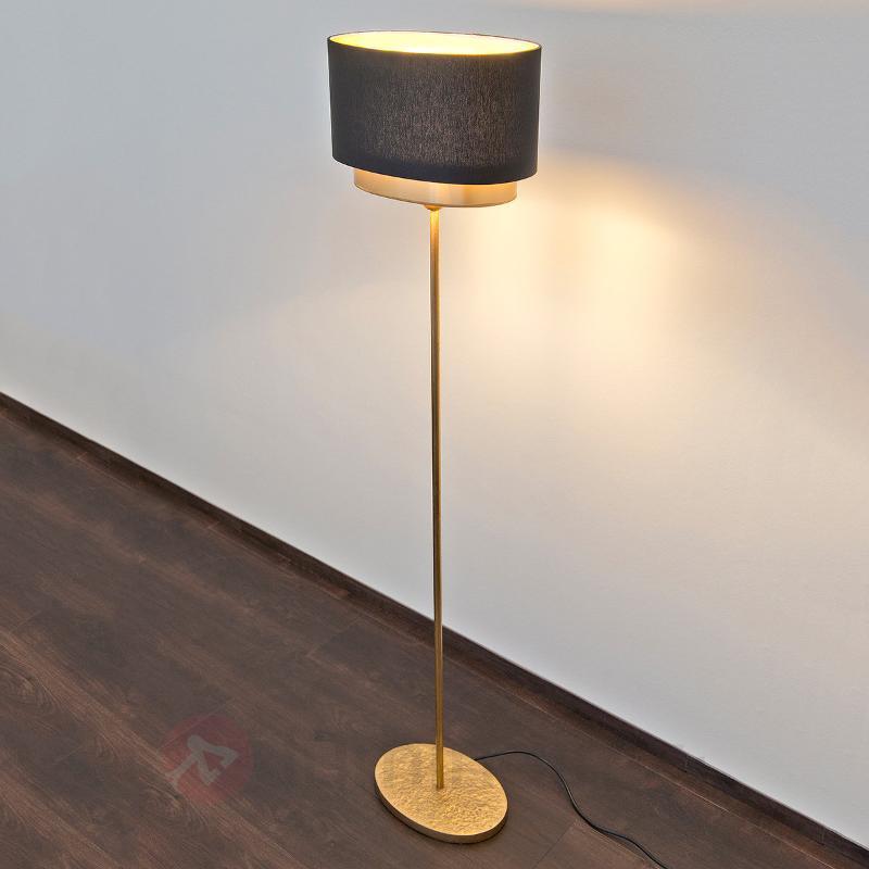 Lampadaire brillant Mattia Oval - Lampadaires design