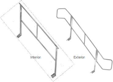 Barandilla de Aluminio para Escalera Z - null