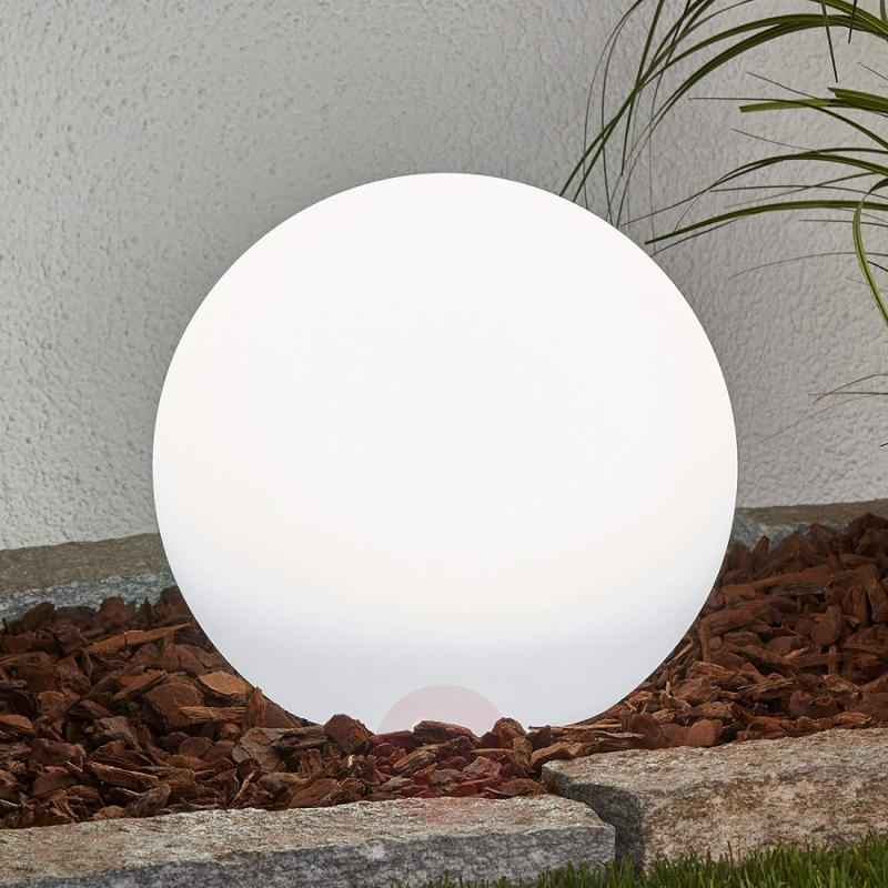 Solar sphere Lago with LED and earth spike - outdoor-led-lights