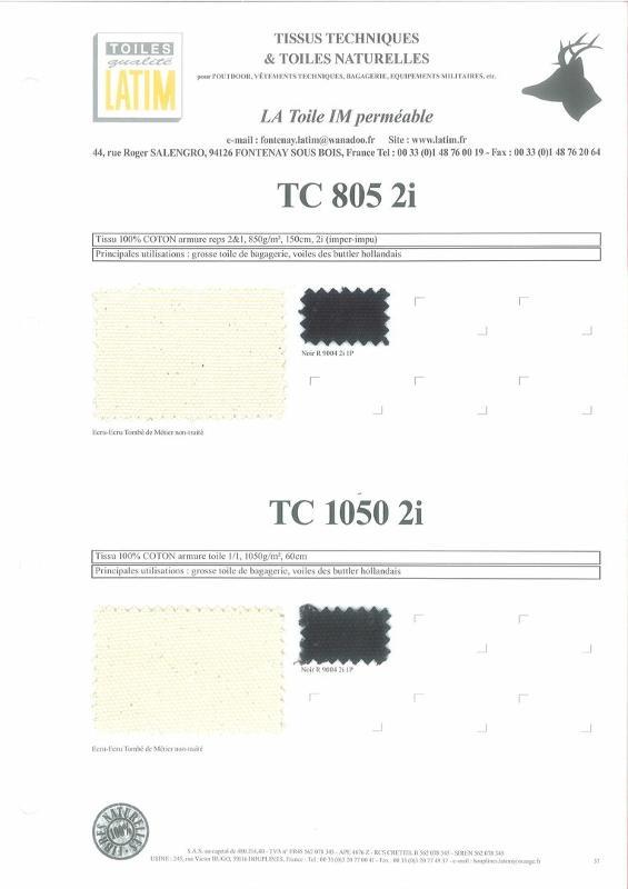 TC 805 2i & TC 1050 2i - Toiles naturelles