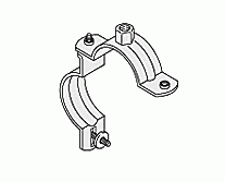 Pipe Clamps - WUS Practica Stainless Steel Clamp M10 unlined