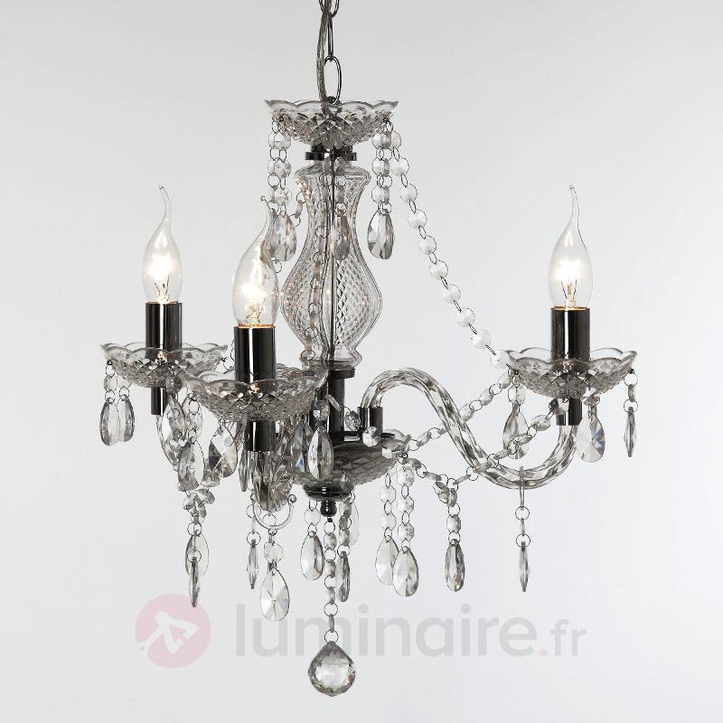 Lustre transparent Perdita, à trois lampes - Tous les lustres