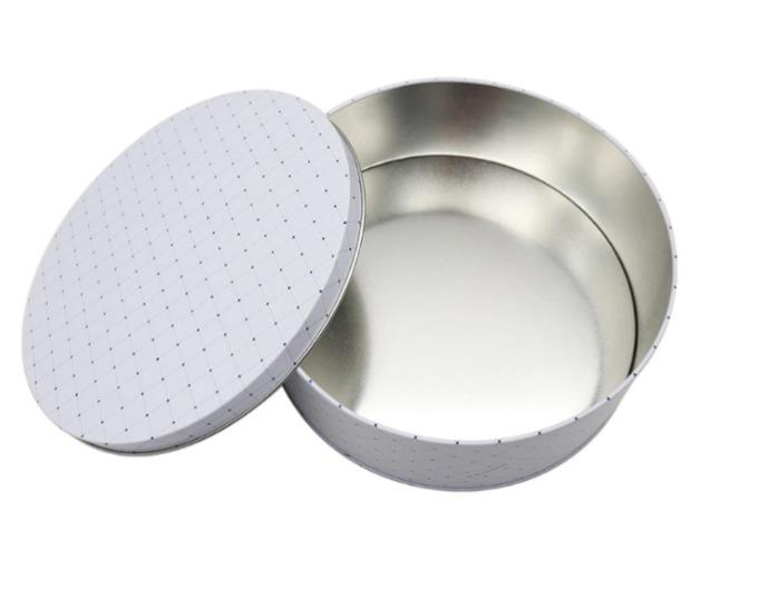 Round cookie tin box - Food grade customized big round cookie tin box round tin cans