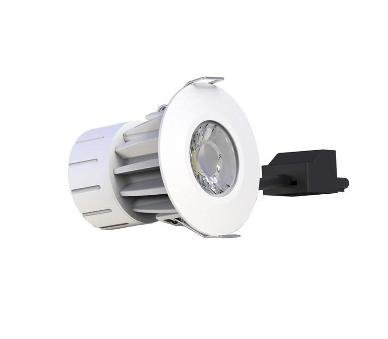 Fire Rated LED Recessed Downlight - 8W, IP65, Ø80 mm