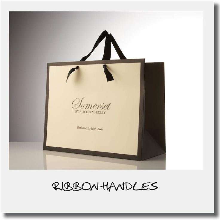 PAPER BAG WITH RIBBON HANDLES