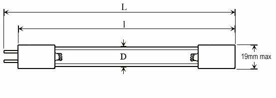 OZONE QUARTZ LAMPS - Lamp Type: O3DP-P4 - null