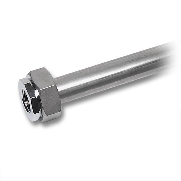 NiroSan® Rohrstück mit Bördel für Tauwasseranschluss - Edelstahlfittings, NiroSan® Rohrstück mit Bördel für Tauwasseranschluss
