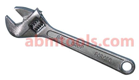 Adjustable Wrench - A wrench with a jaw of adjustable width