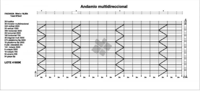 andamio multidireccional 1000m2 - lote de andamio europeo homologado multidireccional