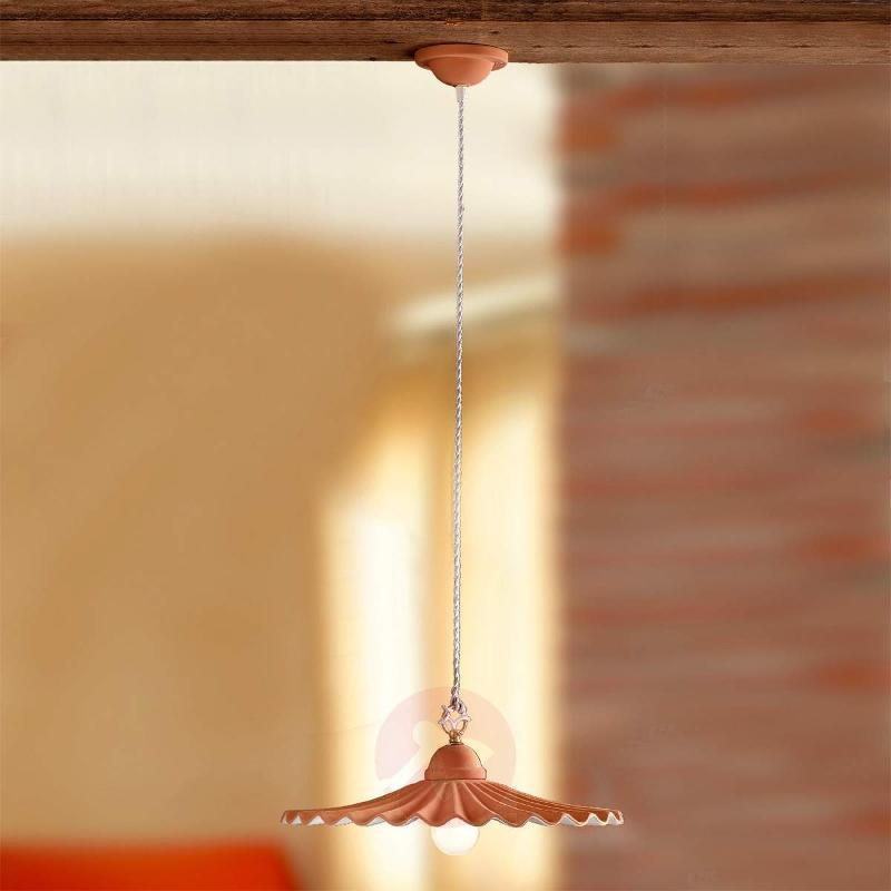 ARGILLA hanging light in a country house style - Pendant Lighting