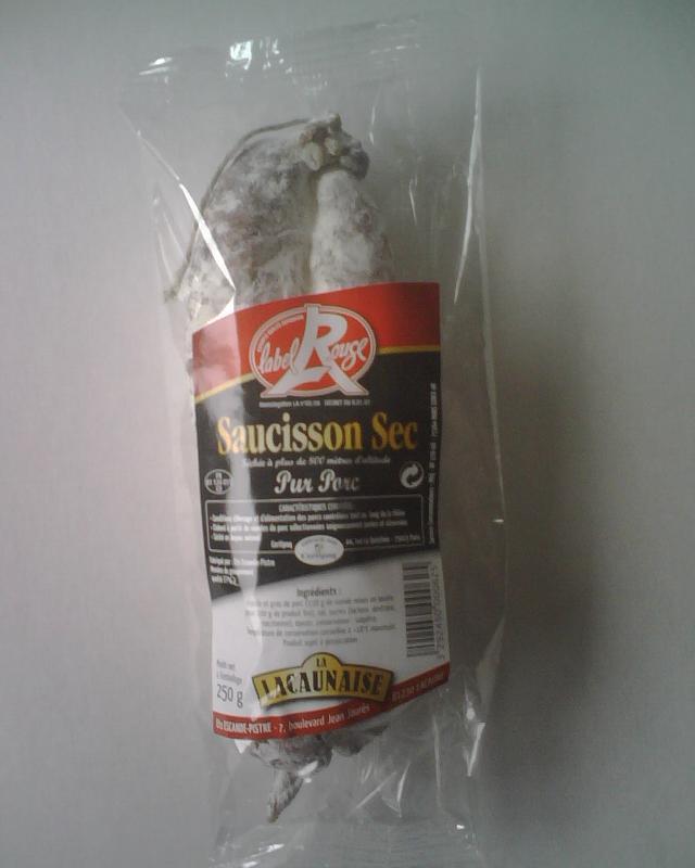 SAUCISSON SEC LABEL ROUGE LA LACAUNAISE 250 G (box de... - Viande et volailles