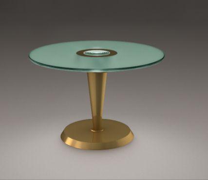 Gueridon art deco lighted table - Model Pedestal Table 4