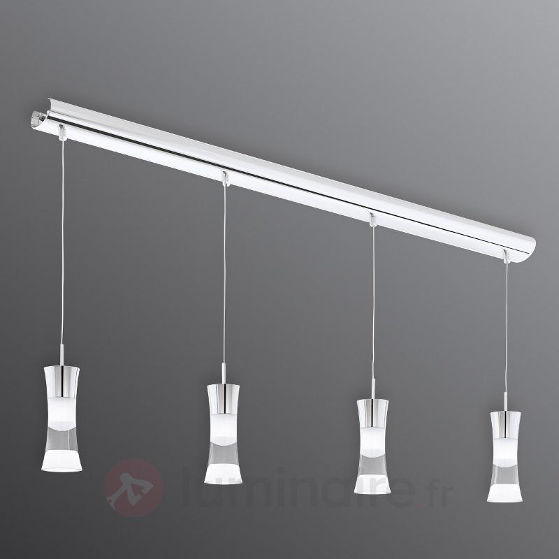 4 flammes Suspension LED Pancento en acier - Suspensions LED