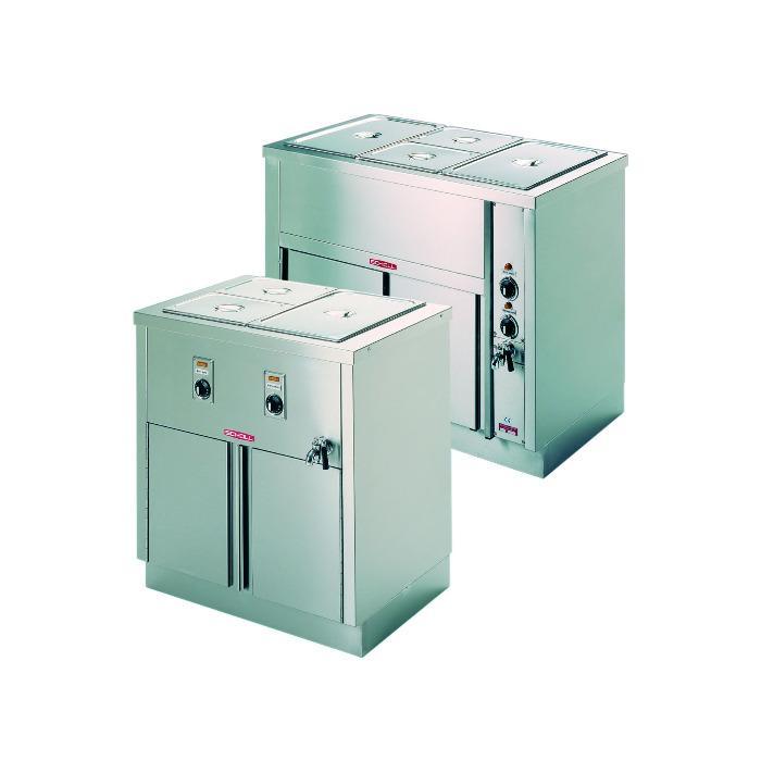 Bain-marie - with hot cupboard