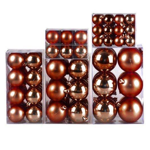Weihnachtskugel 120-teiliges Set Farbe: Schoko / Bronze - null