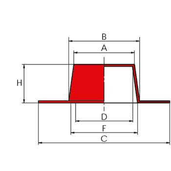 N100 CL - Bouchons et capes coniques à large collerette - Bouchons ou capes coiffantes lisses multi-usages