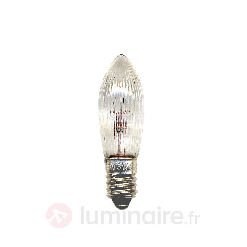 E10 2,4W 12V Lampe bougie de rechange Pack de 3 - Ampoules à l'unité