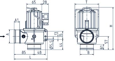 2/2-way drain valve NO, DN 50 IP 65, IP 68 - 04.050.916