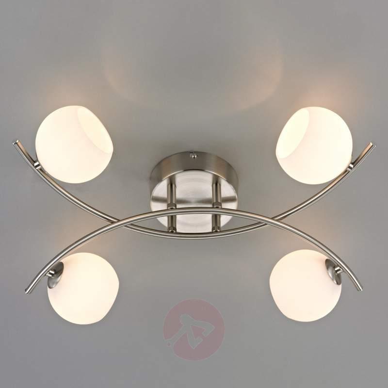 4-bulb opal glass ceiling light Muriel - Ceiling Lights