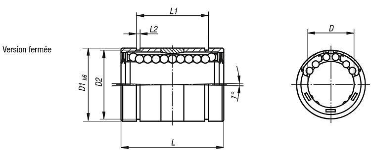 Palier linéaire à billes avec compensation de... - Palier linéaire à billes