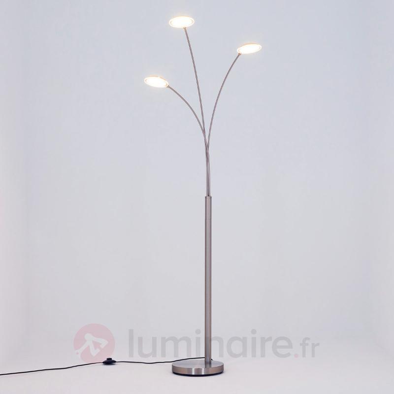 Lampadaire arqué LED Sirina à 3 lampes - Lampadaires LED