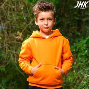 KID SWEATSHIRT KANGAROO - REF: SWRKKNG Sudadera unisex lisa para niños, con capucha y bolsillo canguro