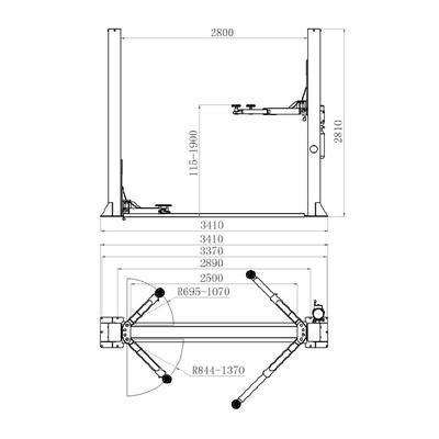 Pont élévateur 2 colonnes 3,5T ECO - Pont élévateur