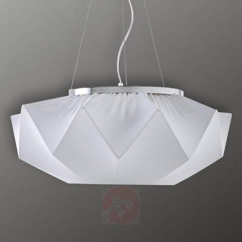 Beautifully formed textile ceiling light Art 35 cm - design-hotel-lighting