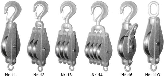 Poulies et moufles - Moufles pour cordages - type HDT