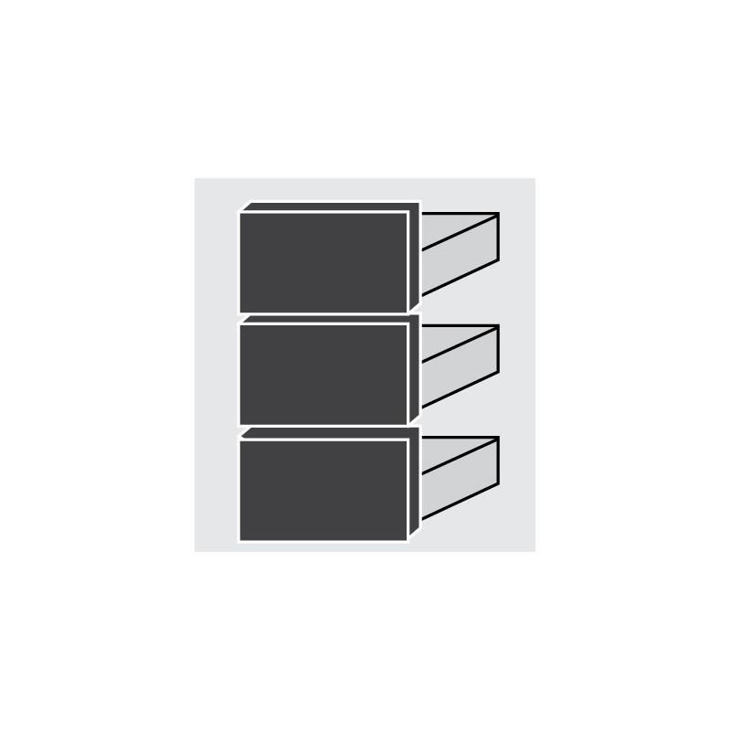 BLOC 3 TIROIRS POUR FRIGO TABLE FDIAM - Référence FDIAM 1/3