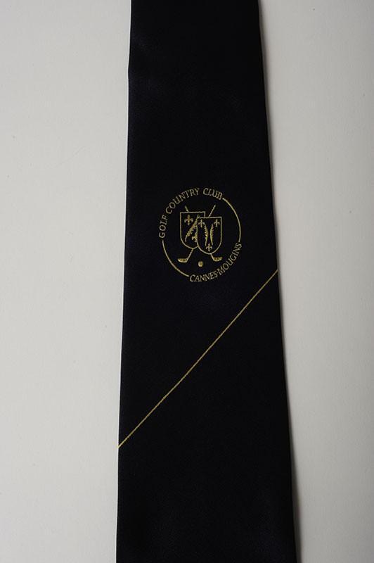 Cravate jacquard en soie  - membres club de golf