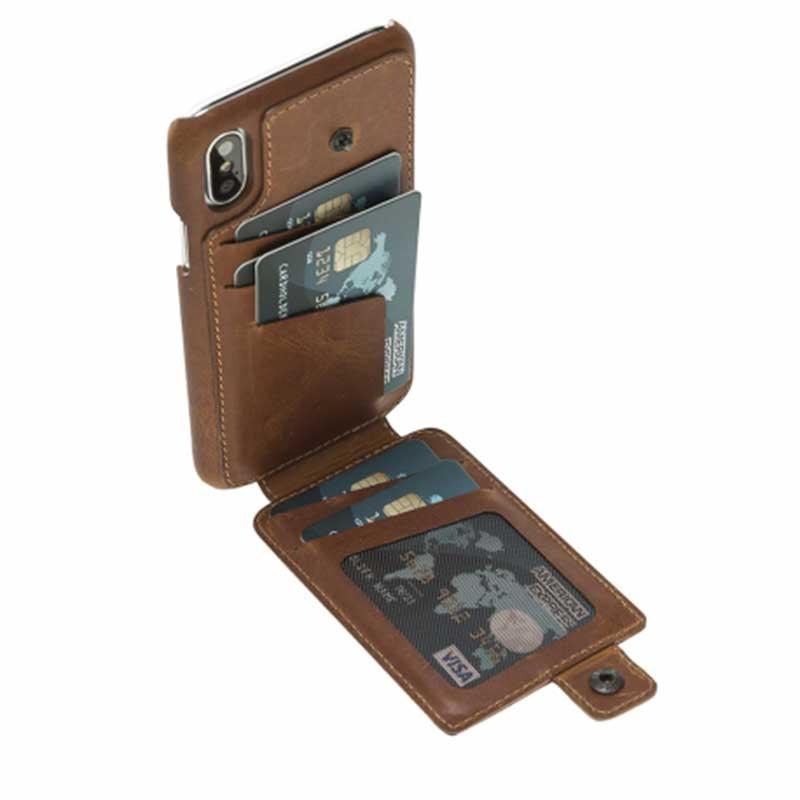 Ultimate Holder - Designer Leather mobile phone case for iphone X